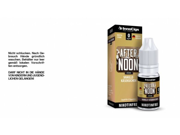 InnoCigs - Afternoon Vanille-Käsekuchen Aroma - Liquid für E-Zigaretten