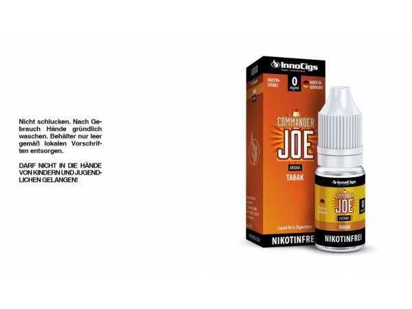 InnoCigs - Commander Joe Tabak Aroma - Liquid für E-Zigaretten