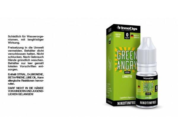 InnoCigs - Green Angry Limetten Aroma - Liquid für E-Zigaretten