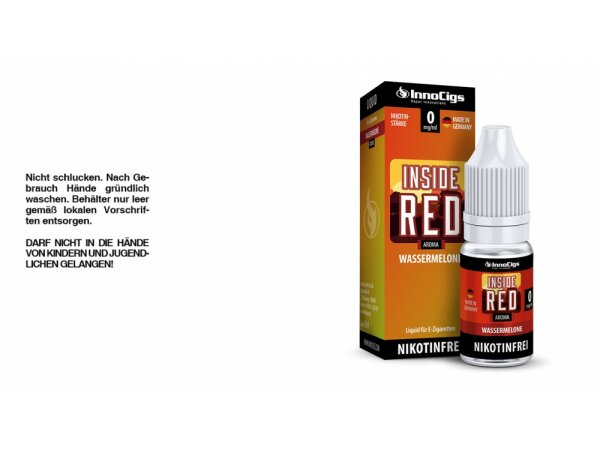 InnoCigs - Inside Red Wassermelonen Aroma - Liquid für E-Zigaretten