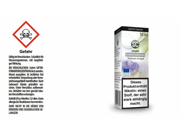 SC - Blaubeer Käsekuchen E-Zigaretten Liquid