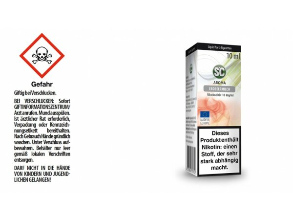 SC - Erdbeermilch E-Zigaretten Liquid