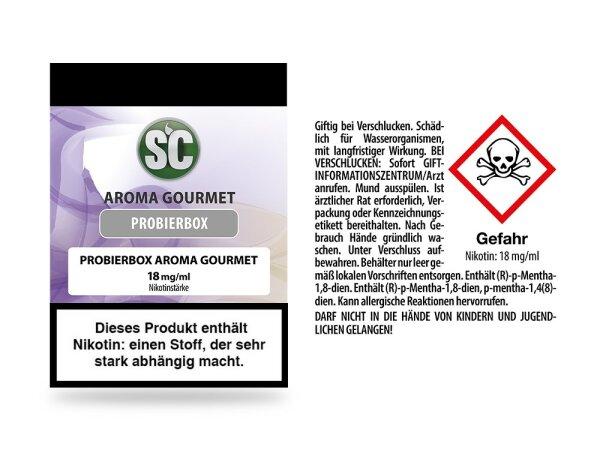 SC - Gourmet Probierbox E-Zigaretten Liquid 10er Packung