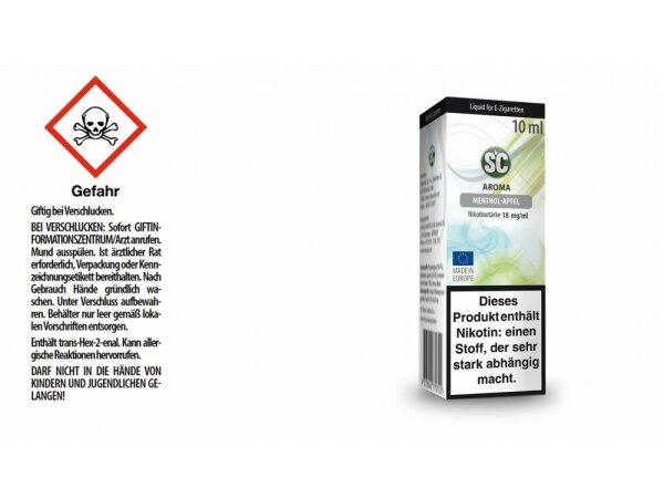 SC - Menthol-Apfel E-Zigaretten Liquid