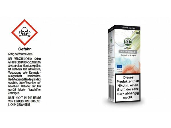 SC - Menthol-Erdbeere E-Zigaretten Liquid
