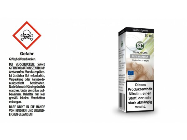 SC - Taste of America Tabak E-Zigaretten Liquid