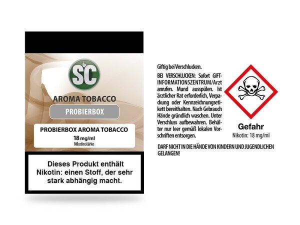 SC - Tobacco Probierbox E-Zigaretten Liquid 10er Packung