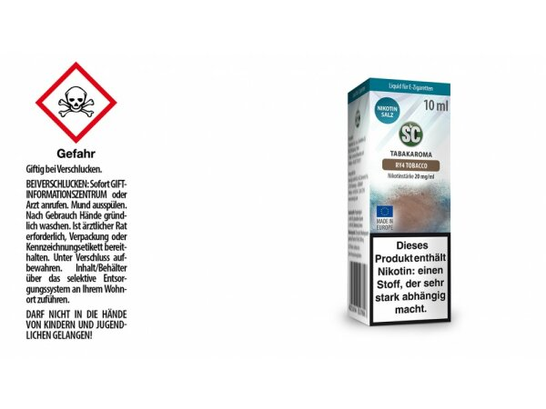 SC - RY4 Tobacco - E-Zigaretten Nikotinsalz Liquid 20 mg/ml