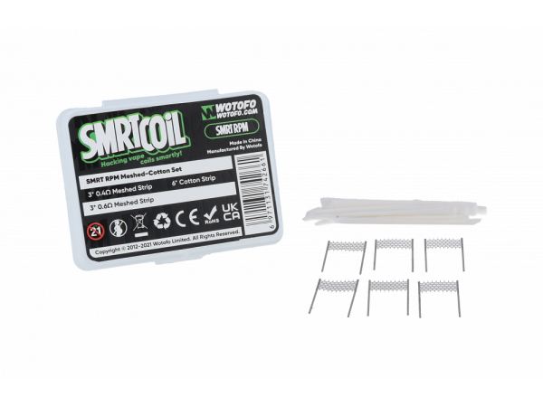 Wotofo SMRT RPM Meshed-Cotton Set